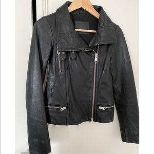Allsaints women leather jacket